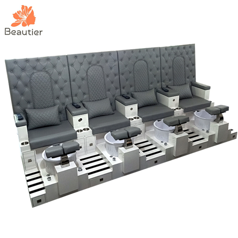 PB009-4 High end nail beauty furniture nail SPA pedicure station bench